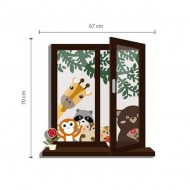 Walplus Animal Friends wandsticker