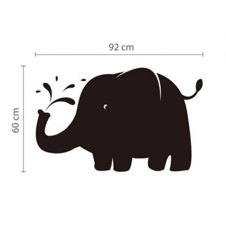 Krijtbord Sticker Elephant